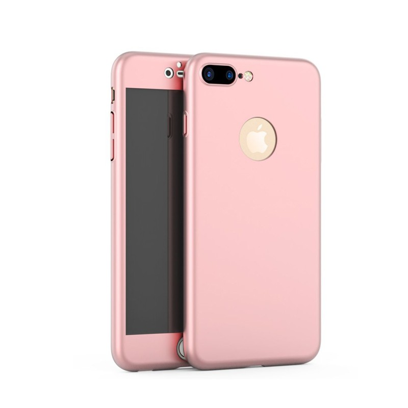 Iphone 7 Plus 360 Kılıf Gold Rose