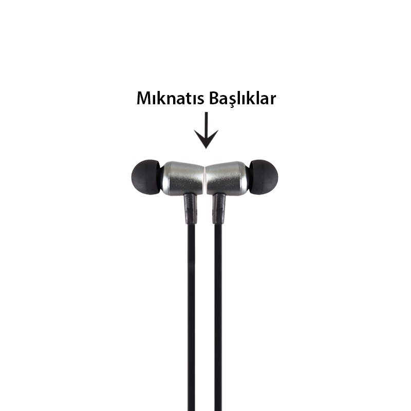 Wireless Bluetooth Kulaklık Gri